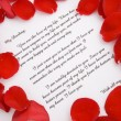 A love letter for Valentines day. — Стоковое фото