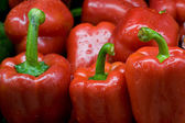 Close up of bell peppers. — Stock Photo