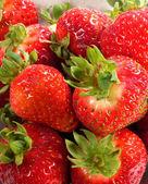 Close up van rode aardbeien. — Stockfoto