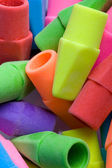 Close up of erasers. — Stock Photo