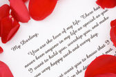 Valentines love letter. — Stock Photo