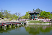 A historic pavillion in Seoul, Korea. — Stock Photo