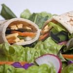 Closeup of a tortilla veggie wrap. — Stock Photo #4918126