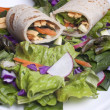 Veggie wrap and a salad. — Stock Photo #4918140
