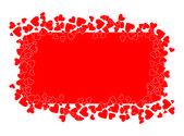 Moldura vermelha — Vetor de Stock