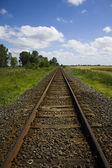 Track perspective — Stock Photo