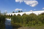Nine hole bridge, hortobagy hungary — Stock Photo