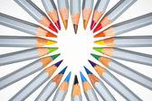 Cœur de crayons — Photo