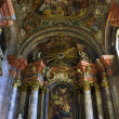 Baroque church interior — Stock Photo