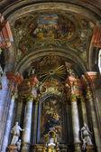 巴洛克式教堂内部 — 图库照片