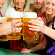 Inn or pub in Bavaria - group of - Stock Photo