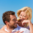 Couple in love - Caucasian man - Stock Photo