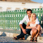 Couple having a city break in — Stock Photo