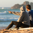 Two surfers with their surf — Stock Photo #5022806