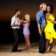 Stock Photo: Two couples) on the