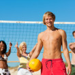 Man playing beach volleyball — Stock Photo #5022839