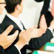 Business team applauding after — Stock Photo #5023074