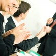 Business team applauding after — Stock Photo