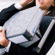 Female office worker with a — Stock Photo #5023139