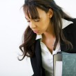 Female office worker with a — Stock Photo