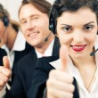 Group of three customer care - Stock Photo