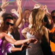 Dance action in a disco club — Foto Stock