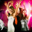 Dance action in a disco club — Stok fotoğraf