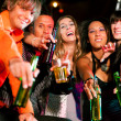 Dance action in a disco club — Stock Photo #5023513