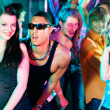 Dance action in a disco club — Stockfoto