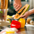 Close up of chef in a — Stock Photo #5023539