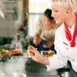 Two chefs in teamwork - man — Stock Photo #5023542