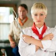 Two chefs in teamwork - man — Stock Photo #5023549