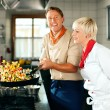 Two chefs in teamwork - man — Stock Photo #5023550