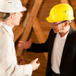 Stock Photo: Architect and construction