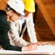 Architect and construction — Stock Photo
