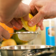 Cooking, squeezing a — Stock Photo #5023599
