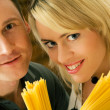 A couple with uncooked — Stock Photo #5023616