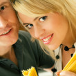 A couple with uncooked — Stock Photo #5023617