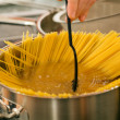Cooking pasta — Stock Photo #5023625