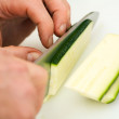 Cook cutting - Stock Photo