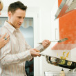 Young couple cooking — Stock Photo #5023631