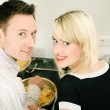 Young couple cooking — Stock Photo #5023632