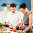 Young couple cooking - man — Stock Photo #5023670