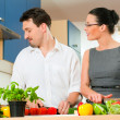 Young couple cooking - man — Stock Photo