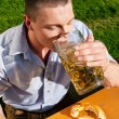 Man in traditional Bavarian — Stock Photo #5023810