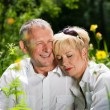 Stock Photo: Mature or senior couple deeply