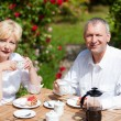Mature or senior couple having — Stock Photo