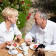 Stock Photo: Mature or senior couple having