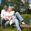 Mature or senior couple deeply - Stock Photo