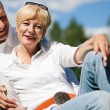 Mature or senior couple deeply — Stock Photo #5023965